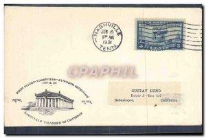 Letter US 1st Flight Nashville Sebastopol June 15, 1931