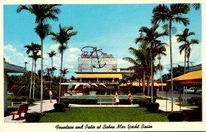Florida Fort Lauderdale Bahia Mar Yacht Basin Fountain and Patio