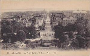 France Le Havre Le Jardin Public et la Rue de Paris