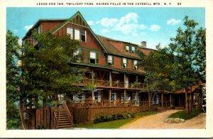 New York Haines Falls Twilight Park Ledge End Inn Curteich