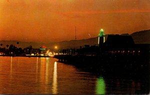 California Santa Barbara Sunset As Seen From The Pier