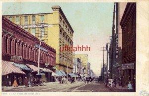 WALNUT STREET, DES MOINES, IA. 1908 Detroit Publ. Phostint