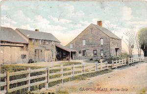 26180 MA, Haverhill, 1908, Willow Dale, old wooded house, picket fence