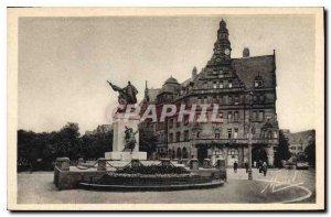 Old Postcard Metz Place Albert I