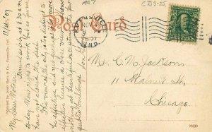 Evansville Indiana Coal Mine Hill Hartz #99830 1907 Postcard 21-5494