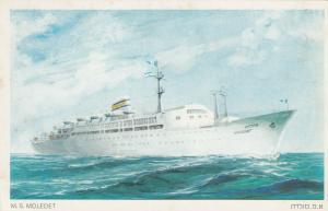 ISRAEL, 40-60s; ZIM Ocean Liner MOLEDET