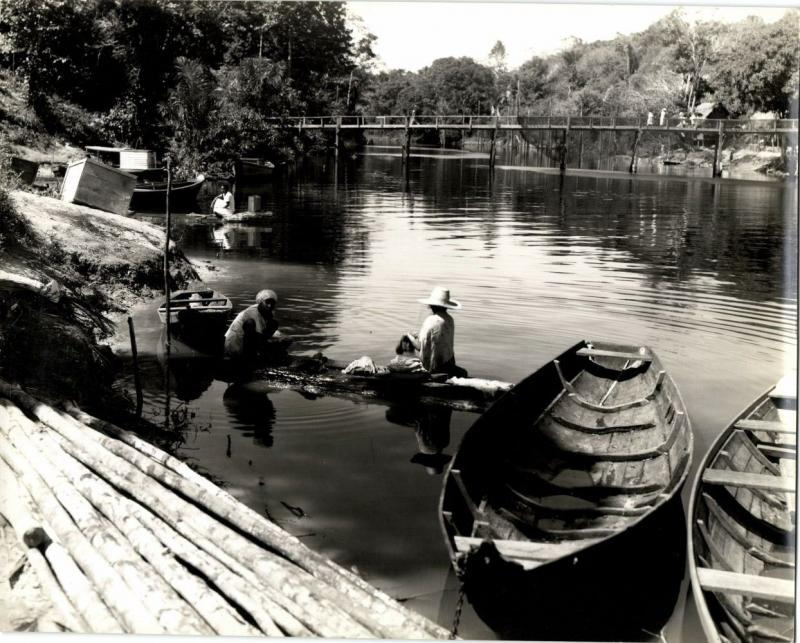 brazil, MANAOS, River Life (1943) Large 9.4 x 7.8 inch Real Photo (3)