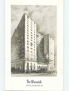 1962 Warwick Hotel Philadelphia Pennsylvania PA Q6110