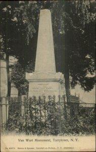 Tarrytown NY Van Wart Monument c1905 Postcard