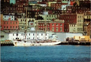 Harbour St John's Newfoundland Canada Prestamped Postcard unused 1980s