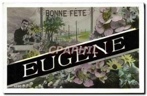 Old Postcard Fancy Eugene Surname