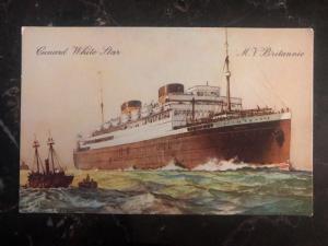 Mint England Picture Postcard Cunard  MV Britannic Cargo Ship