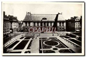 Old Postcard Rennes courthouse and Gardens