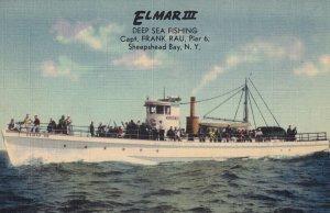 SHEEPSHEAD BAY, New York, 1930-1940's; El Mar III, Deep Sea Fishing Boat