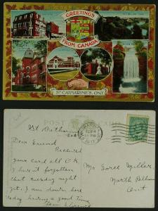 St Catherines Ont Greetings from Canada 1911