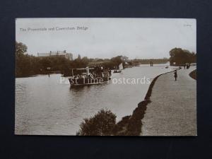 Berkshire CAVERSHAM BRIDGE Steam Ferry Boat & Promenade - Old RP Postcard