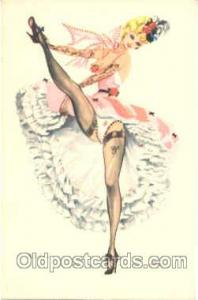 Artist Alice Huertas Postcard Post Card #4 French Can Can Artist Alice Huerta...