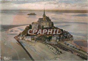 Modern Postcard Mont Saint Michel Manche Aerial view