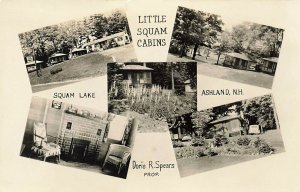 Ashland NH Little Squam Cabins Multi-View Real Photo Postcard