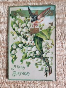 A HAPPY BIRTHDAY.VTG EARLY 1900'S POSTCARD MADE IN GERMANY*P42