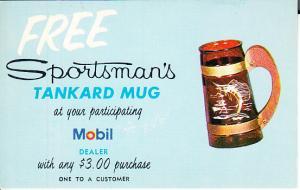 Mobil Free Sportsman's Mug Post Card Mailer