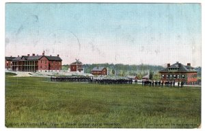 Fort Williams, Me, View of Parade Ground during Inspection