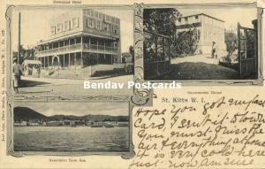 St. Kitts, W.I., BASSETERRE, Newstead Hotel, Government House, Panorama (1908)