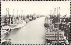 yorkshire, HULL, King George Dock, Ships (1960s) RPPC