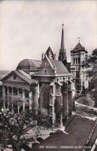 Switzerland Geneve Cathedrale de St Pierre Real Photo