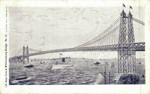 USA New York & Williamsburg Bridge 04.75