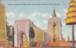 California San Francisco Temple Compound Golden Gate International Exposition
