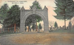 F28/ Beverly Ohio Postcard c1910 Entrance to Cemetery