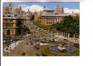 Buses, Cars, Fountain, Cibeles and Alcala Street, Madrid, Spain