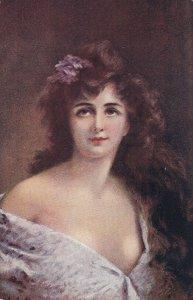Artist ASTI ; Female Head Portrait , 00-10s #6 ; Canadian Souvenir Post Card B