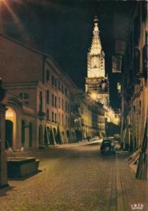 Switzerland Bern Muenster bei Nacht Cathedral At Night