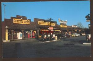 CROSSVILLE TENNESSEE BEAN POT RESTAURANT GAS STATION 1960's CARS POSTCARD TENN.