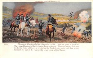 Civil War Post Card Old Vintage Antique Postcard Sherman's March to the ...