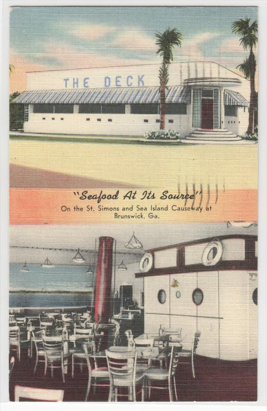 The Deck Seafood Restaurant Brunswick Ga Hippostcard