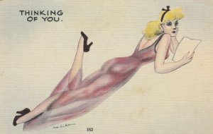 Pin-up Comic , 30-40s ; Thinking of you