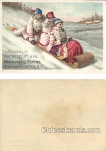 Geo. Westcott & Co. Utica, NY, USA Trade Card Approx Size Inches = 3.5 x 5.25...