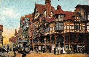 Chester The Cross Tram Street Postcard