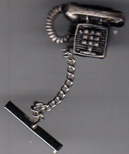 Touchtone Telephone Tie Tack