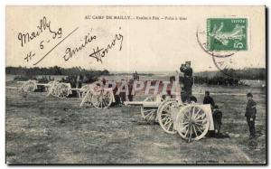 Old Postcard Army Camp at Maillyu Schools has fire Prets shoot guns