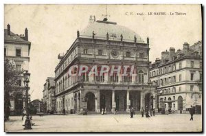 Old Postcard Le Havre Le Theater