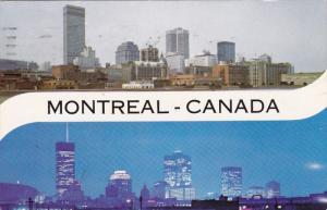 Montreal's Sky-Scrapers Along Dorchester Boulevard, MONTREAL, Quebec, Canada,...