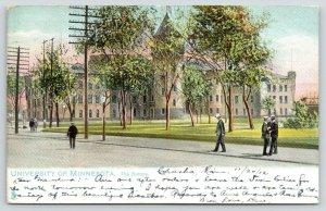 St Paul Minnesota~University of Minnesota Armory~Men on Sidewalk~1912 TUCK