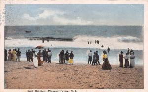 PLEASANT VIEW RHODE ISLAND SURF BATHING~DANZIGER & BERMAN PUBL POSTCARD c1917