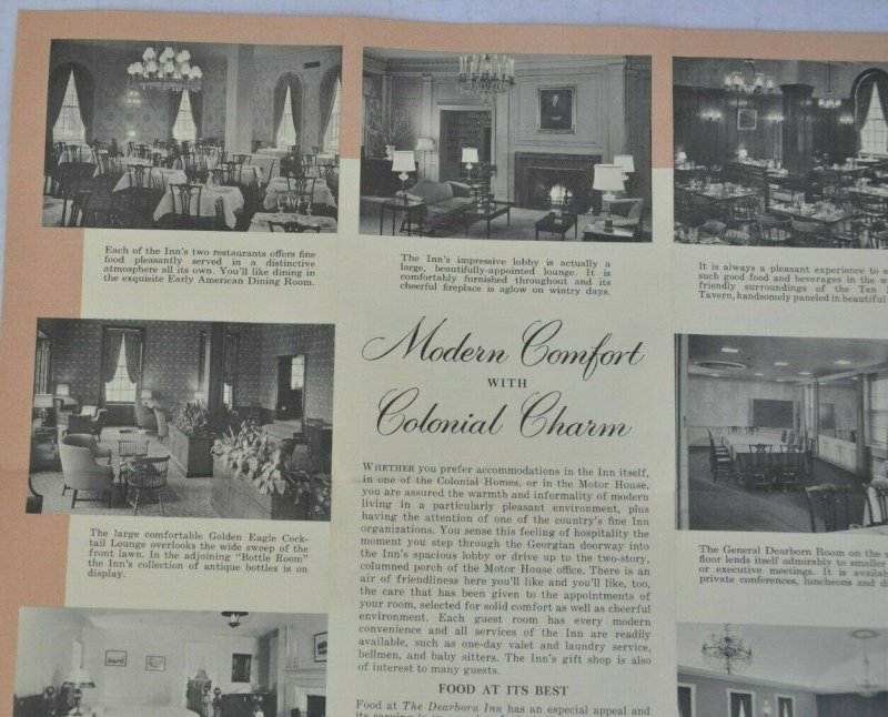 The Dearborn Inn Colonial Homes and Motor House, Promotional Brochure Michigan