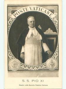 foreign 1920's Religious Postcard POPE PIUS XI - POPE PIO AC2850