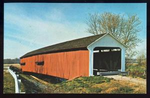Rosedale, Indiana/IN Postcard, Thorpe Bridge, Parke County